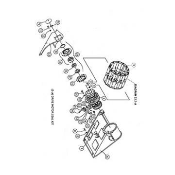 ASV 0702-641 Reman Hydraulic Final Drive Motor